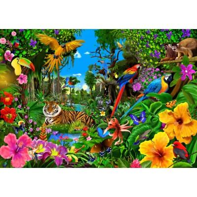 Puzzle Bluebird-Puzzle-70150 Jungle Sunrise