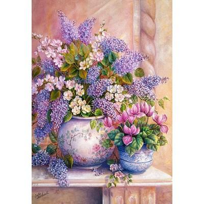 Puzzle Castorland-151653 Lilac Flowers