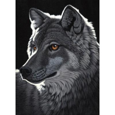 Puzzle Grafika-Kids-01700 Schim Schimmel - Night Wolf