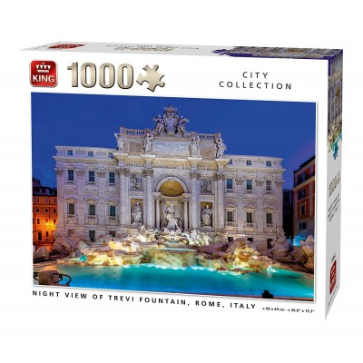 Puzzle King-Puzzle-55852 Night View of Trevi Fountain Rome