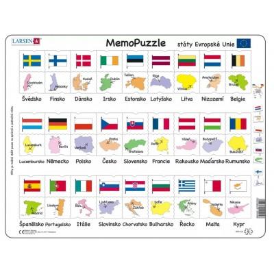 Larsen-GP2-CZ Rahmenpuzzle - MemoPuzzle (auf Tschechisch)