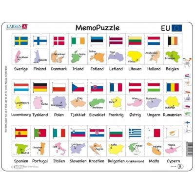 Larsen-GP2-DK Rahmenpuzzle - MemoPuzzle (auf Dänisch)