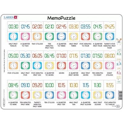 Larsen-GP5-GB Rahmenpuzzle - MemoPuzzle (auf Englisch)