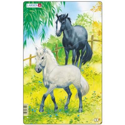 Larsen-H15-1 Rahmenpuzzle - Pferde