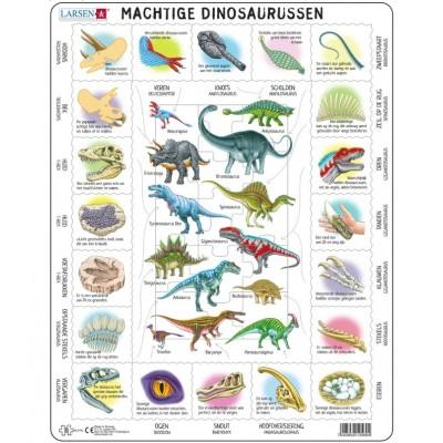 Larsen-HL9-NL Rahmenpuzzle - Dinosaurier (auf Niederländisch)