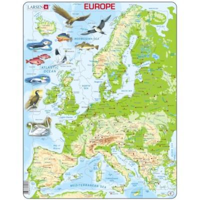 Larsen-K70-GB Rahmenpuzzle - Europa (auf Englisch)