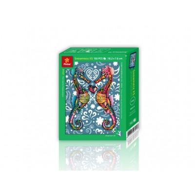 Pintoo-P1107 Puzzle aus Kunststoff - The Colorful Hippocampus
