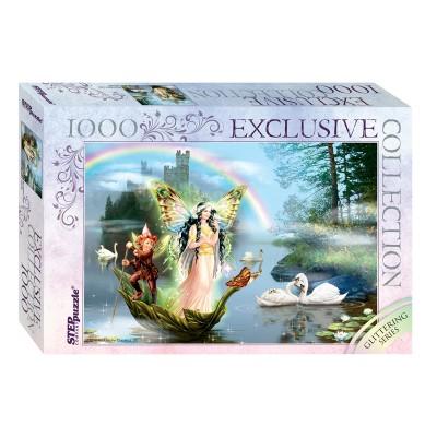 Puzzle Step-Puzzle-79515 Glittering Series - Magic Lake